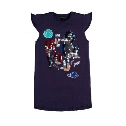 Тениска с пайети за момиче...