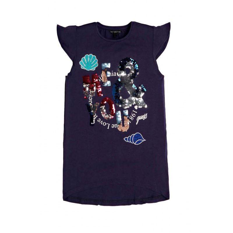 Тениска с пайети за момиче Guess