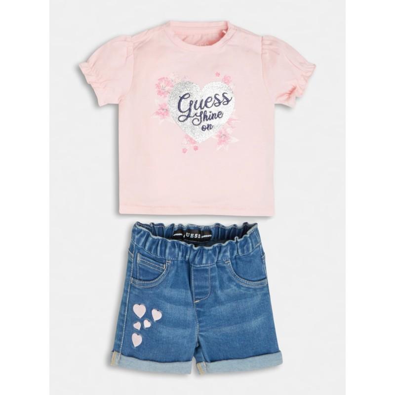 Комплект за бебе момиче GUESS