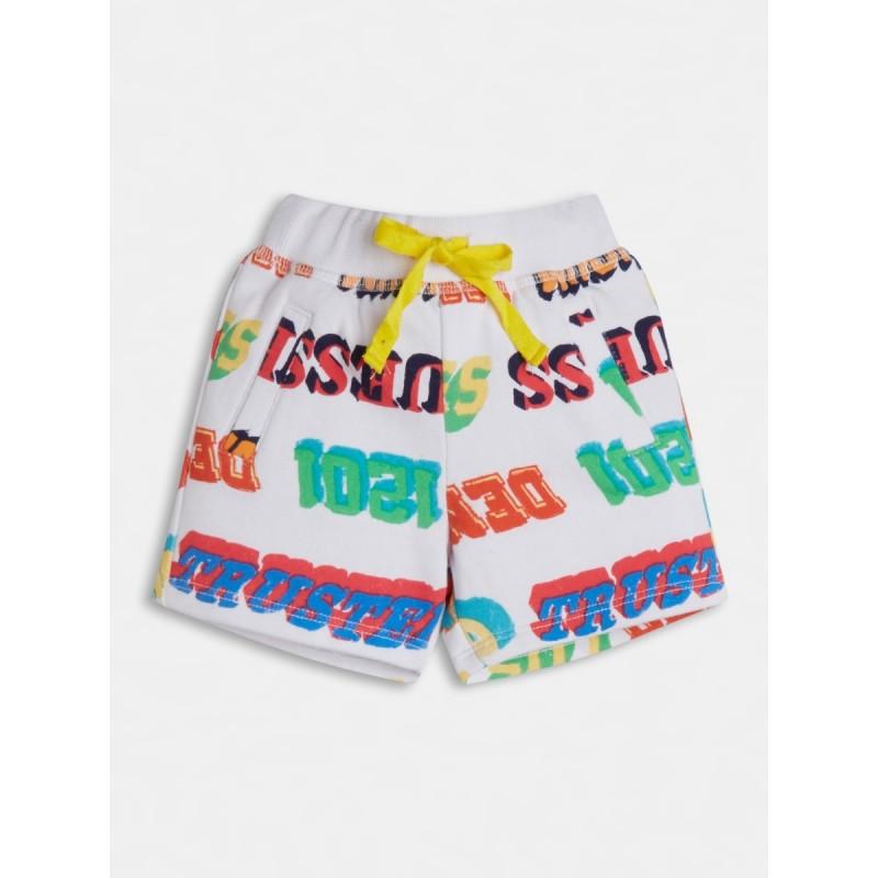 Къси панталони с надписи за момче GUESS