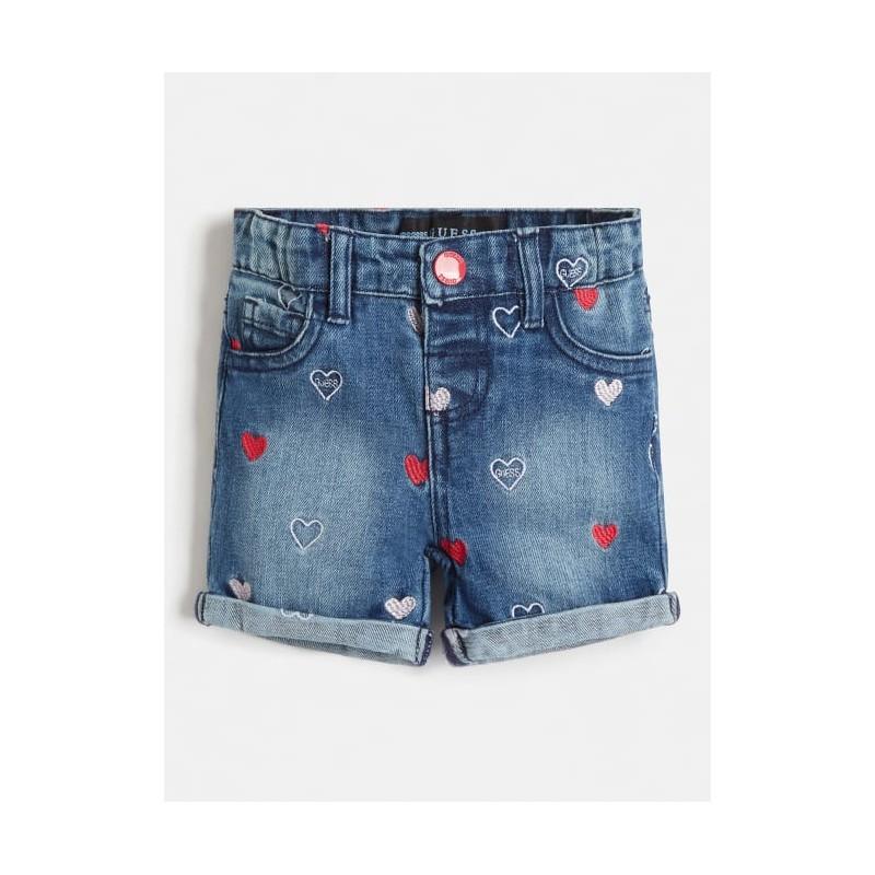 Къси дънкови панталони за момиче GUESS