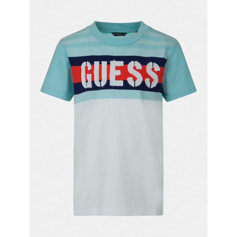 Тениска на райе за момче GUESS