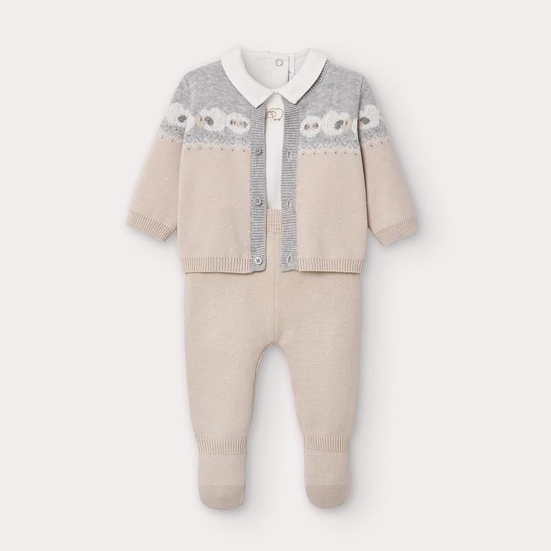 Комплект 3 части за бебе момче Mayoral
