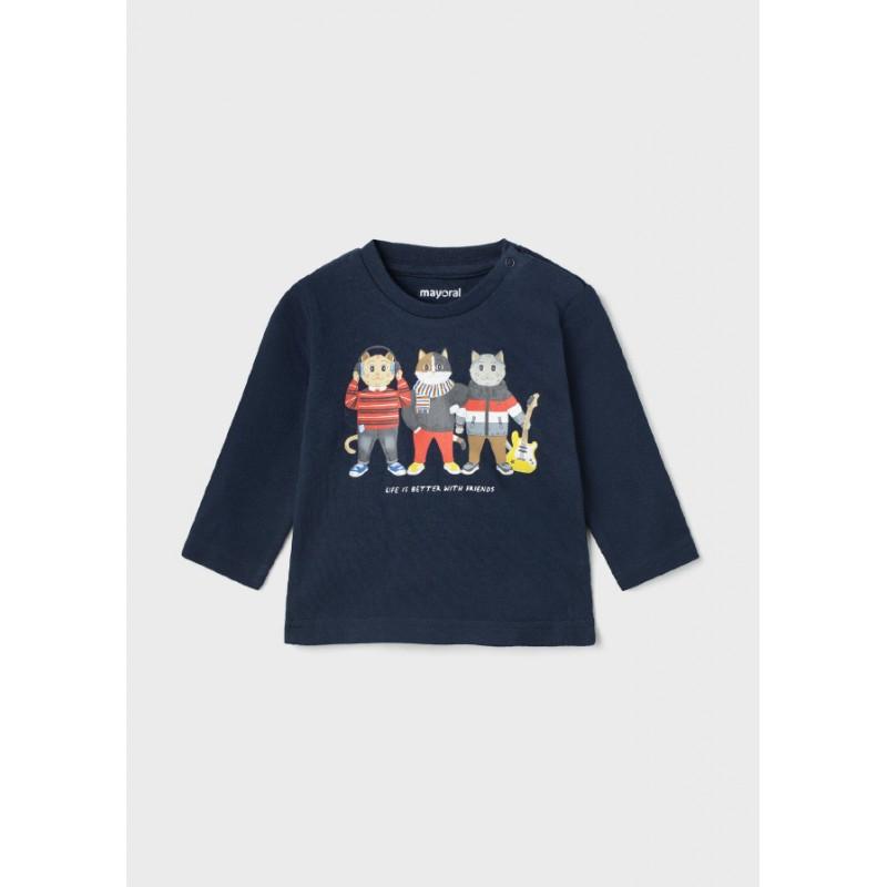 Блуза с дълъг ръкав за бебе момче Mayoral 2075-012
