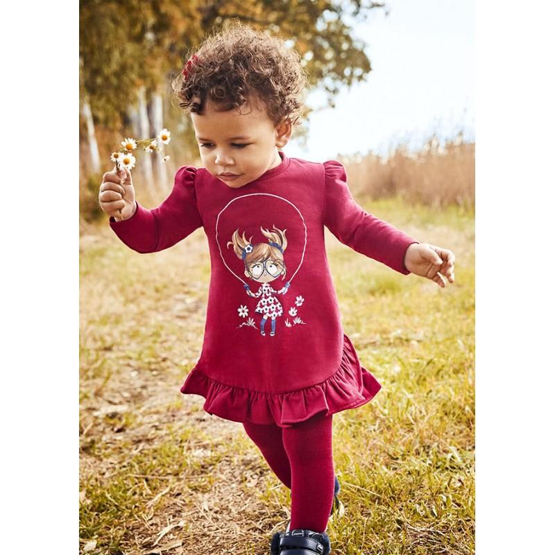Рокля от плюш за бебе момиче Mayoral 2913-014