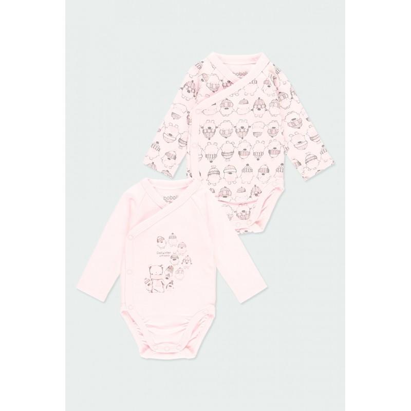 Комплект 2 бр. боди за бебе момиче Boboli 103127