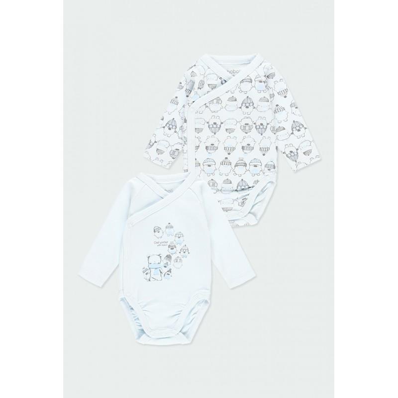 Комплект 2бр боди за бебе момче Boboli 103127