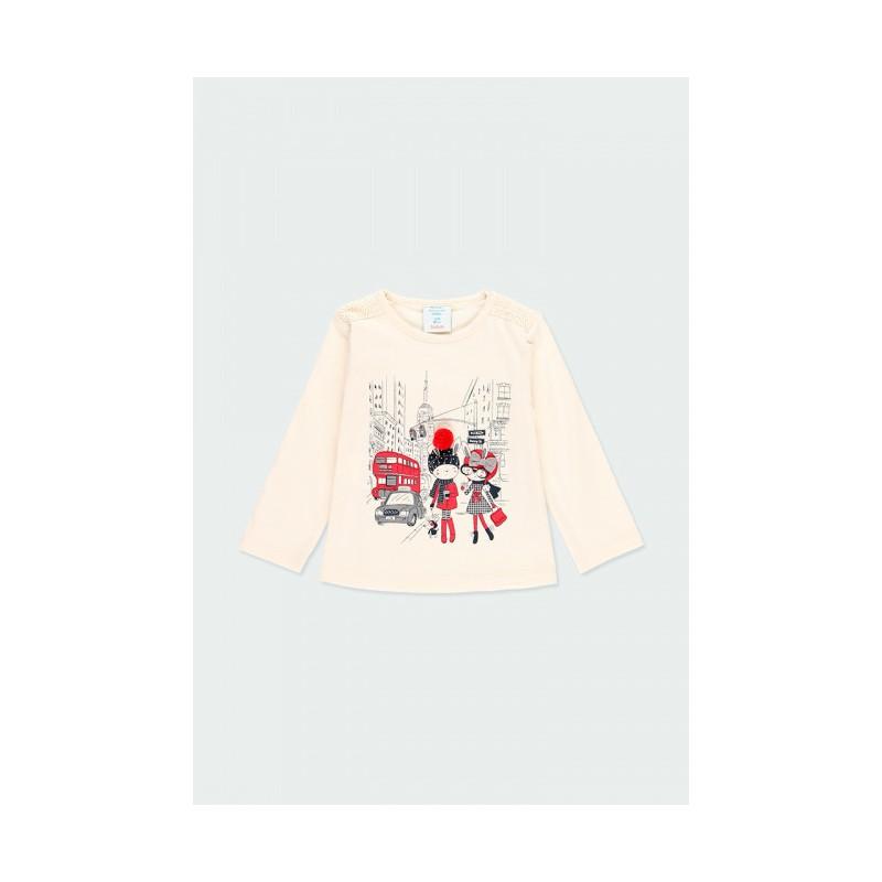Блуза с дълъг ръкав за момиче Boboli 243010-7362