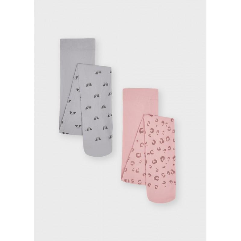 Комплект от 2 чорапогащника за момиче Mayoral