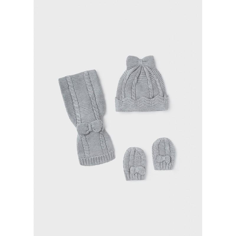 Комплект от шапка и шал за новородено момиче Mayoral 9430-031