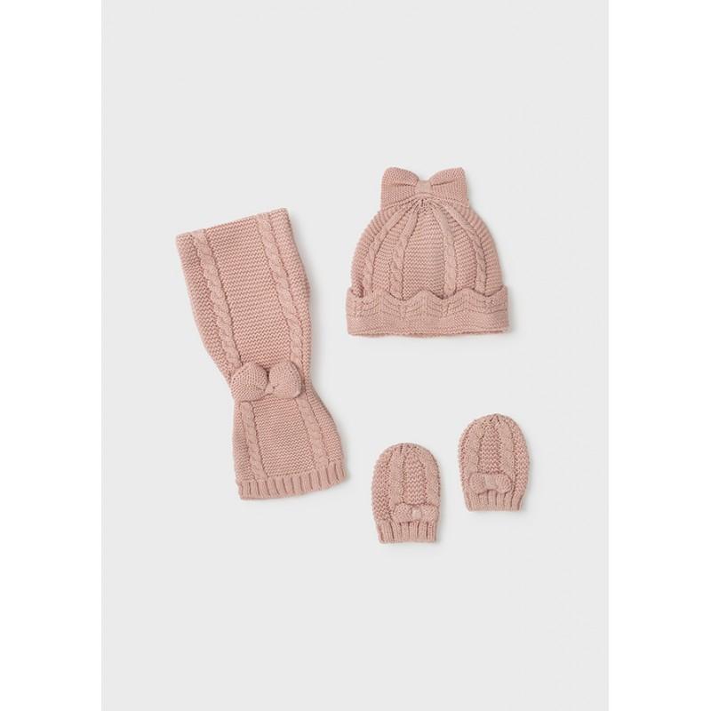 Комплект от шапка и шал за бебе момиче Mayoral 9430-029