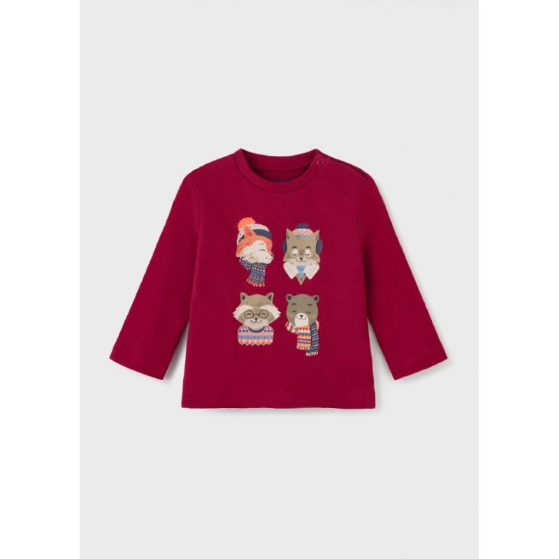 """Блуза с дълъг ръкав """"fox"""" за бебе момче Mayoral 2070"""