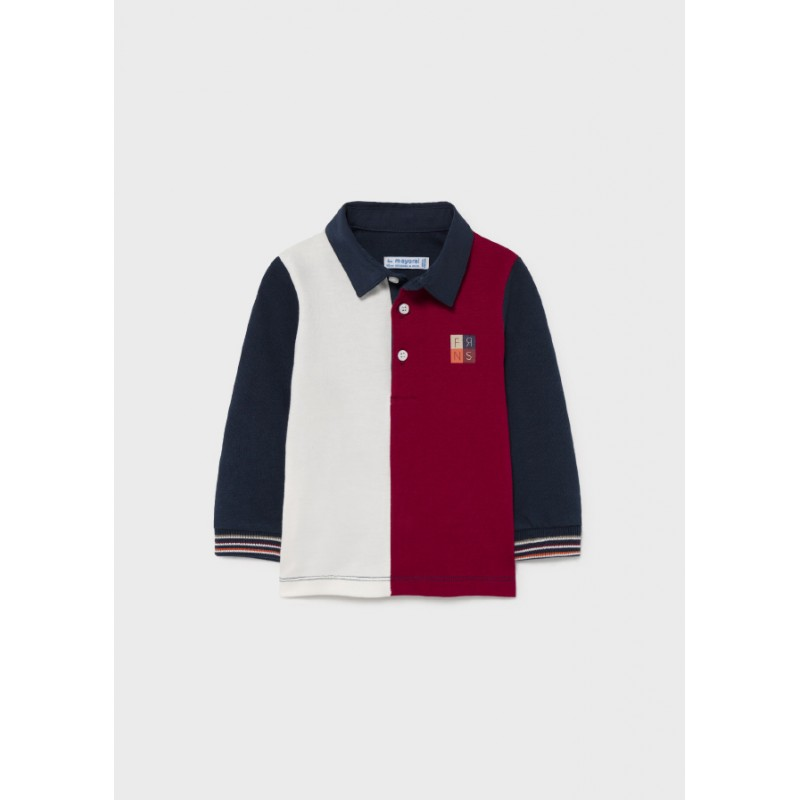 Комбинирана поло блуза за бебе момче Mayoral 2141
