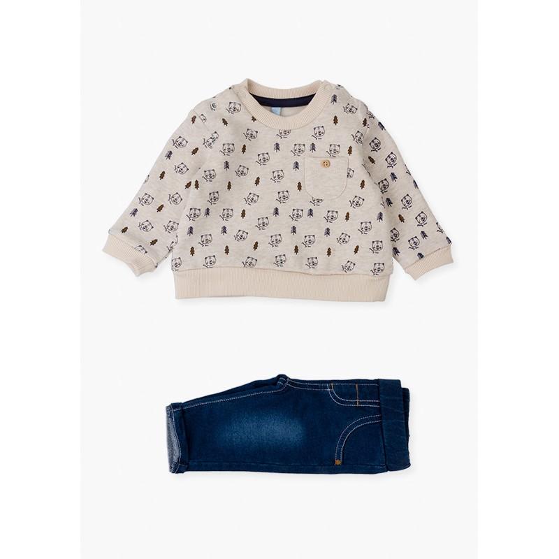 Комплект панталони и суичър Losan 12V-8012AL