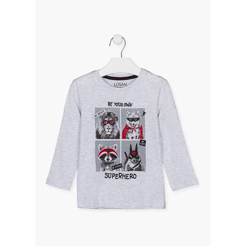 Блуза с щампа за момче Losan 125-1013AL