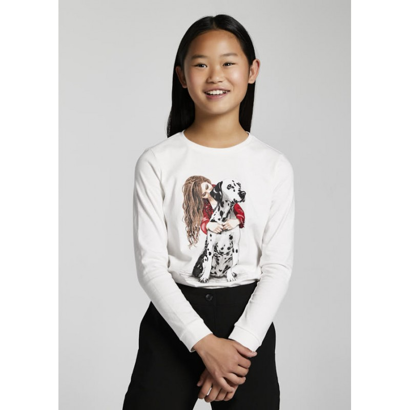 Блуза с апликация далматинец за момиче Mayoral 7089-046