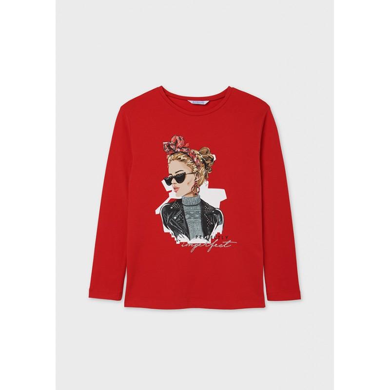 Блуза с щампа за момиче Mayoral 7090-052