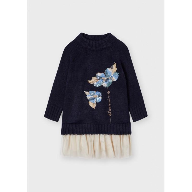 Рокля с пуловер за момиче Mayoral  4931-035