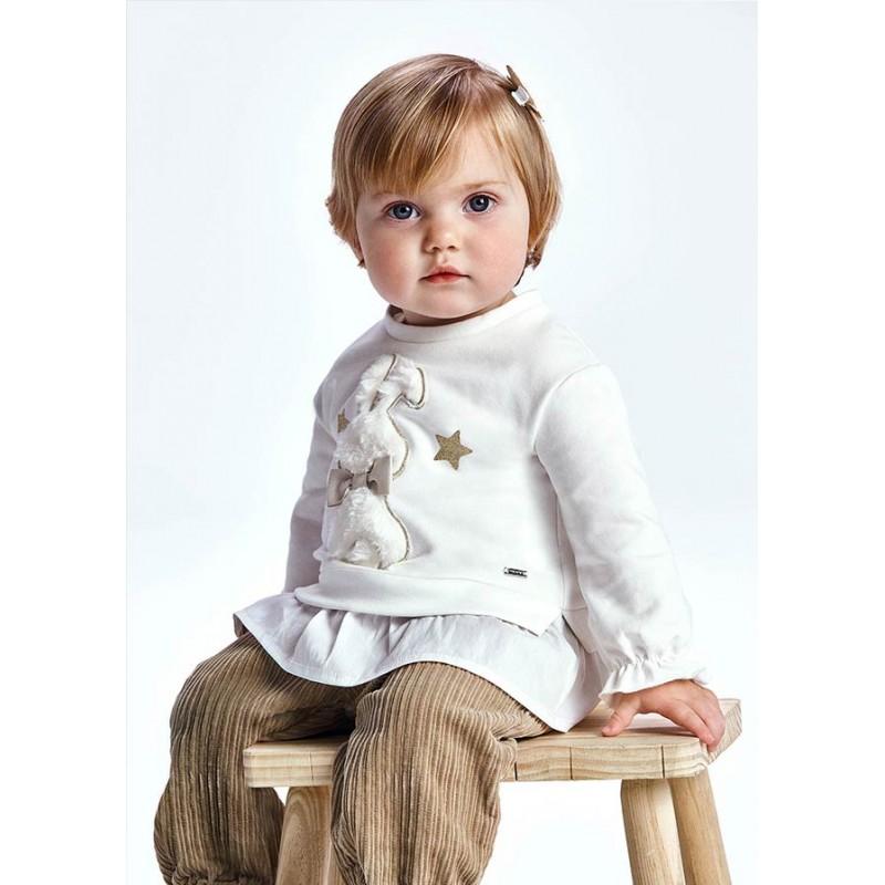 Блуза с волан за бебе момиче Mayoral 2427-065