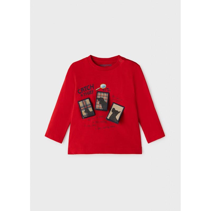 Блуза с апликация за бебе момче Mayoral 2069-053