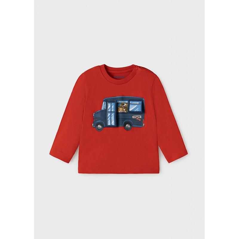 Блуза с апликация бус за бебе момче Mayoral 2065-045