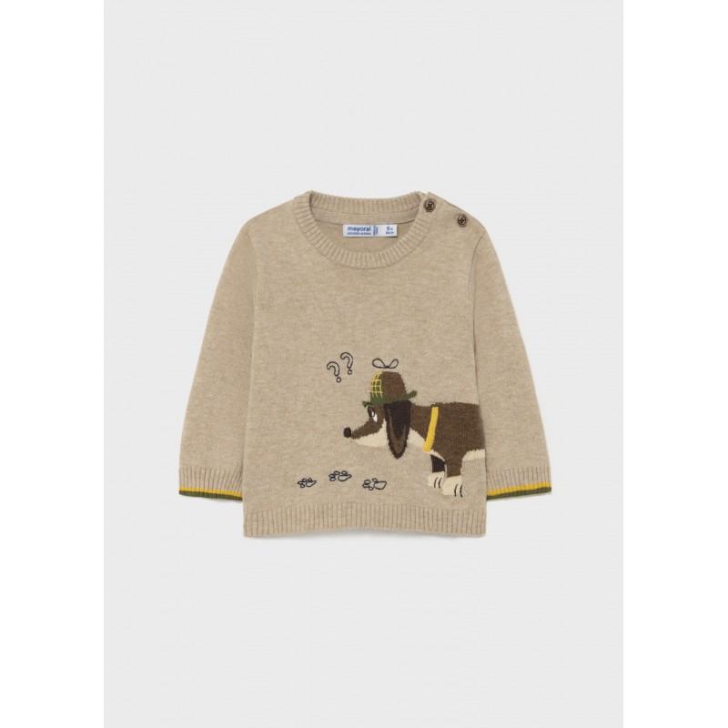 Пуловер с кученце за бебе момче Mayoral 2374-072