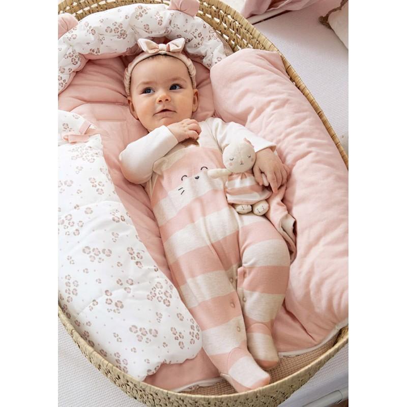 Трикотажен комплект от 2 гащеризона за новородено момиче Mayoral 2669-003