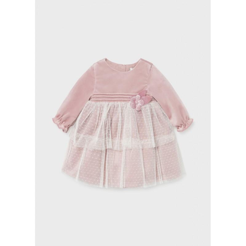 Елегантна рокля за новородено момиче Mayoral 2818-085