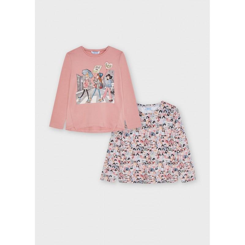 Комплект с 2 блузи за момиче Mayoral 4010-070