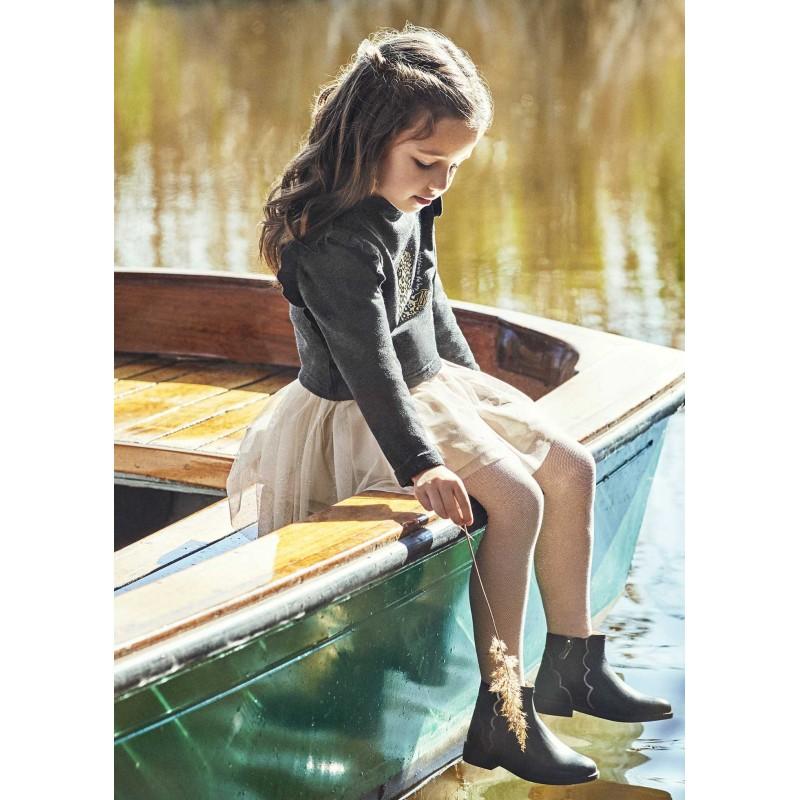 Комбинирана рокля с тюл за момиче Mayoral 4940-028