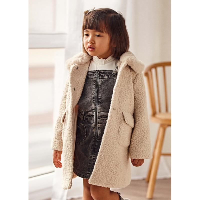 Палто от къдрав косъм за момиче Mayoral 4435-057