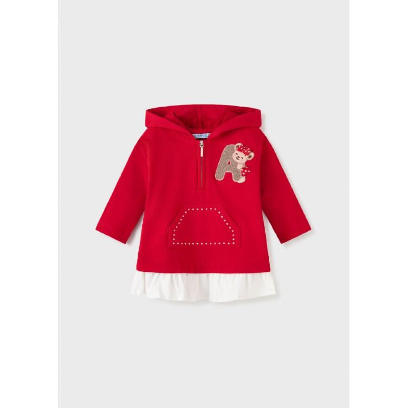 Рокля с качулка за бебе момиче Mayoral 2926-051