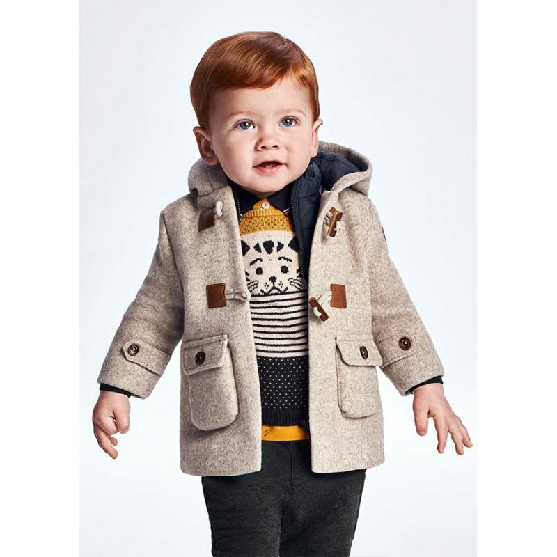 Палто тип тренч с качулка за бебе момче Mayoral 2421-052