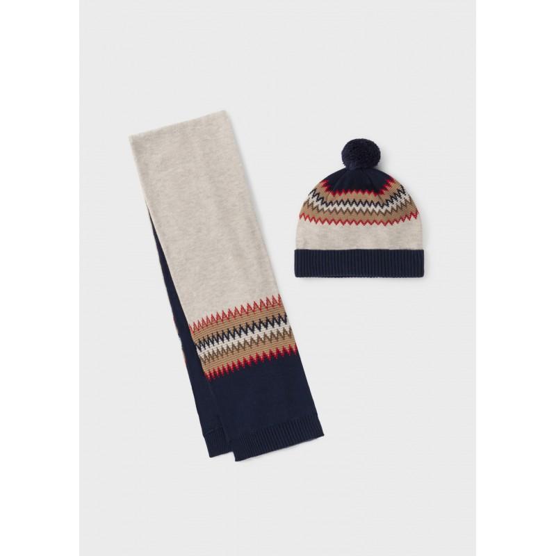 Комплект шапка и шал за бебе момче Mayoral 10103-015