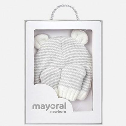 Комплект шапка и ръкавички за бебе Mayoral