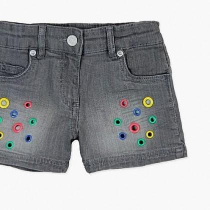 Къси дънкови панталонки за момиче Boboli