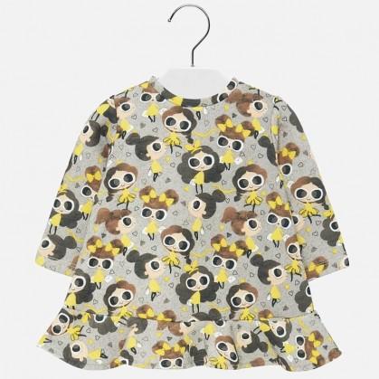 Трикотажна рокля за бебе...
