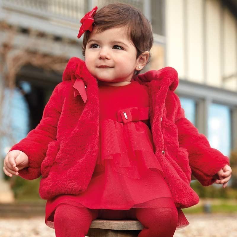 Палто с панделка за момиче...