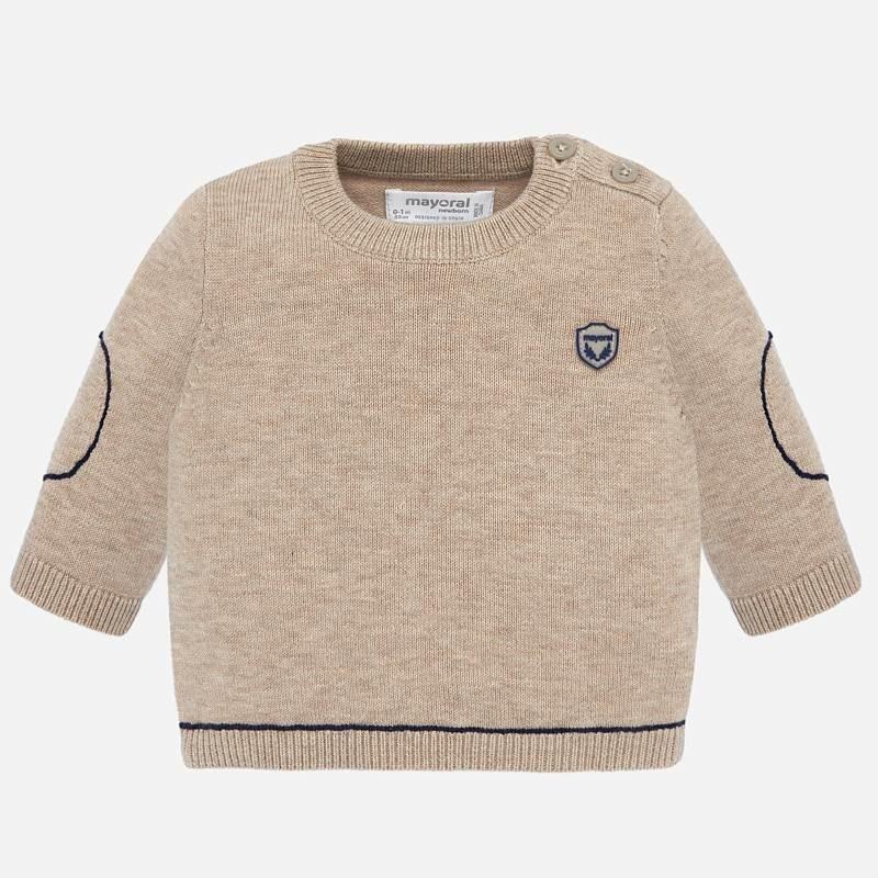 Пуловер с кръгло деколте за...