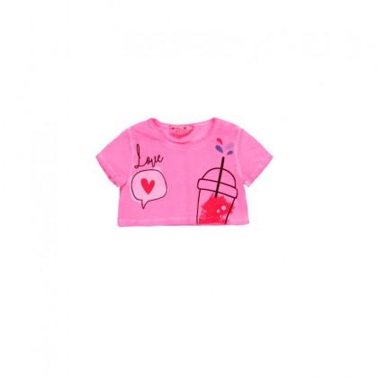Къса тениска за момиче Boboli