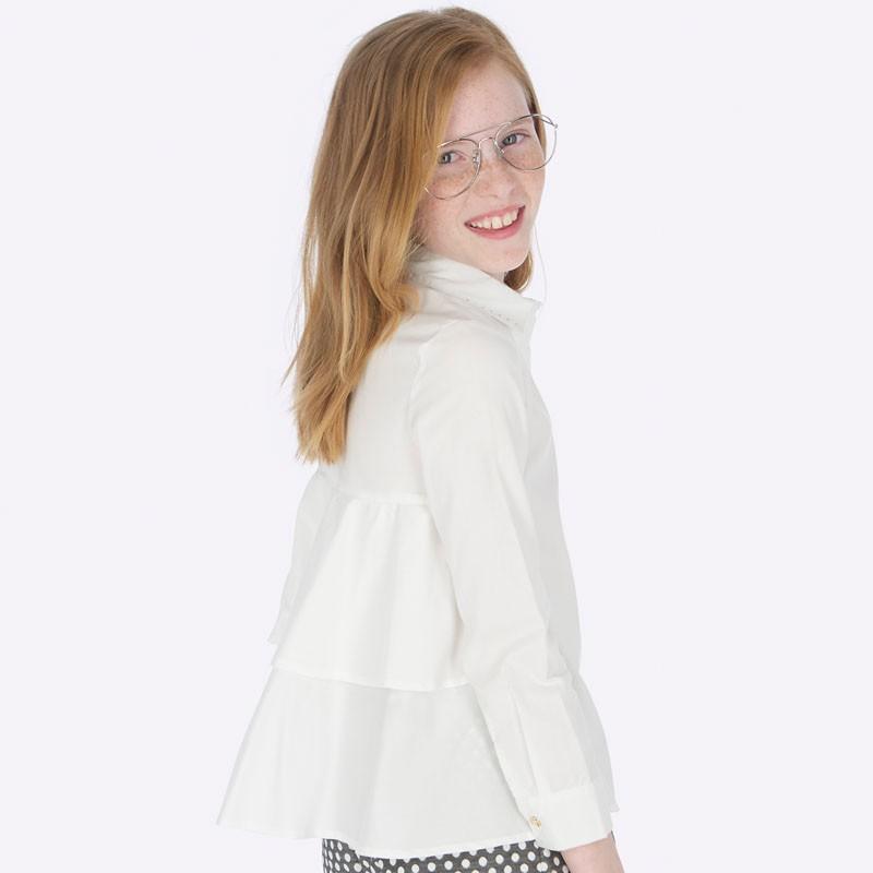 Блуза с камъчета и воал за момиче Mayoral