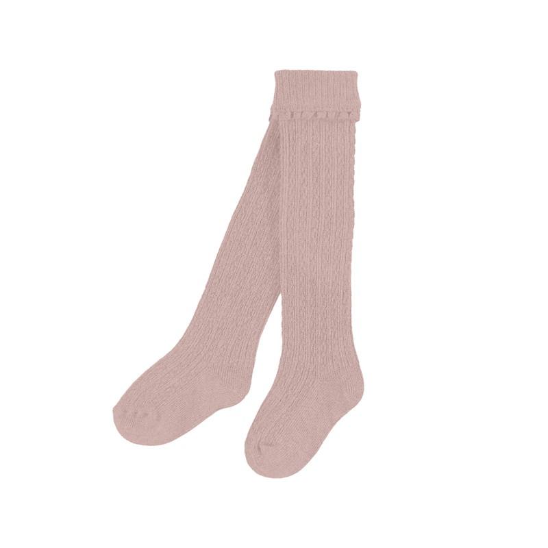 Високи чорапи с плетеници...