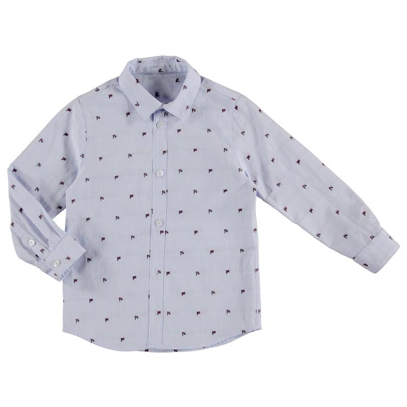 Риза с дълъг ръкав с щампи...