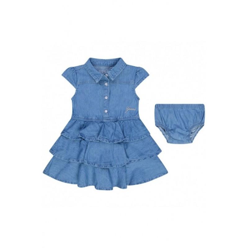 Дънкова рокля за бебе...