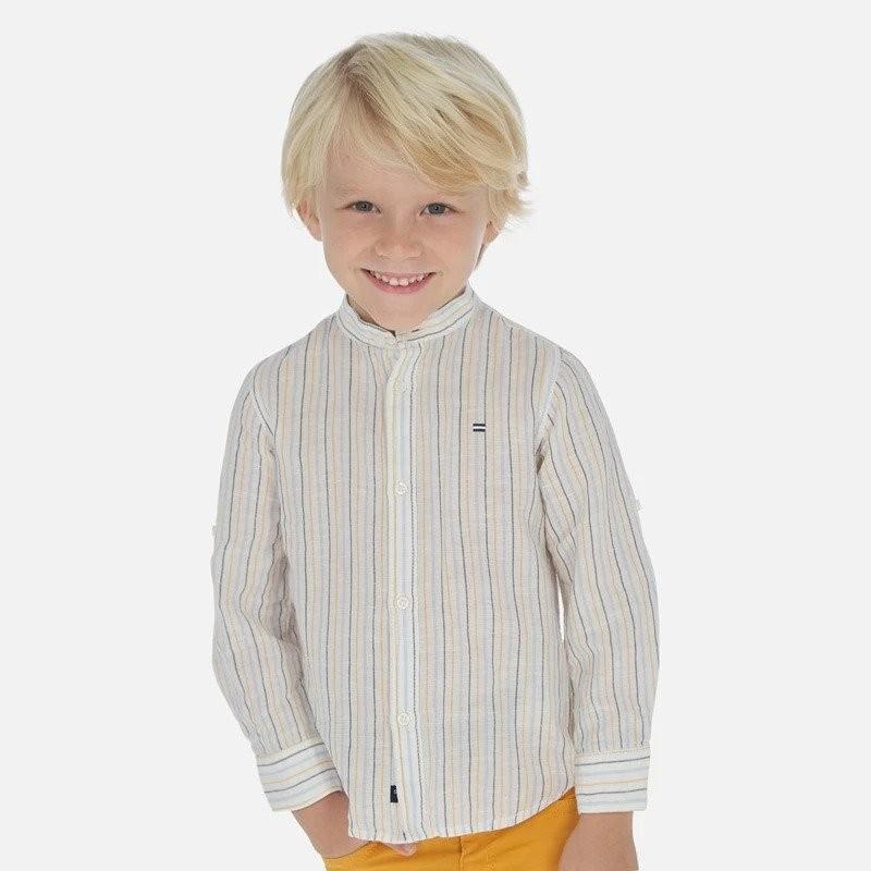 Риза с дълъг ръкав от лен