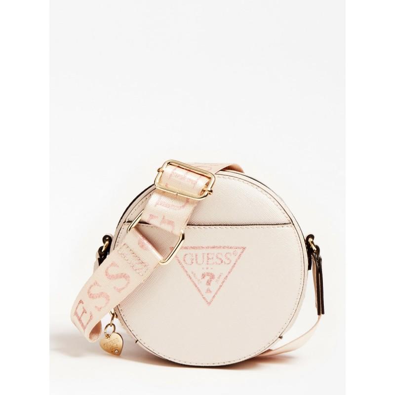 Кръгла кожена чанта GUESS