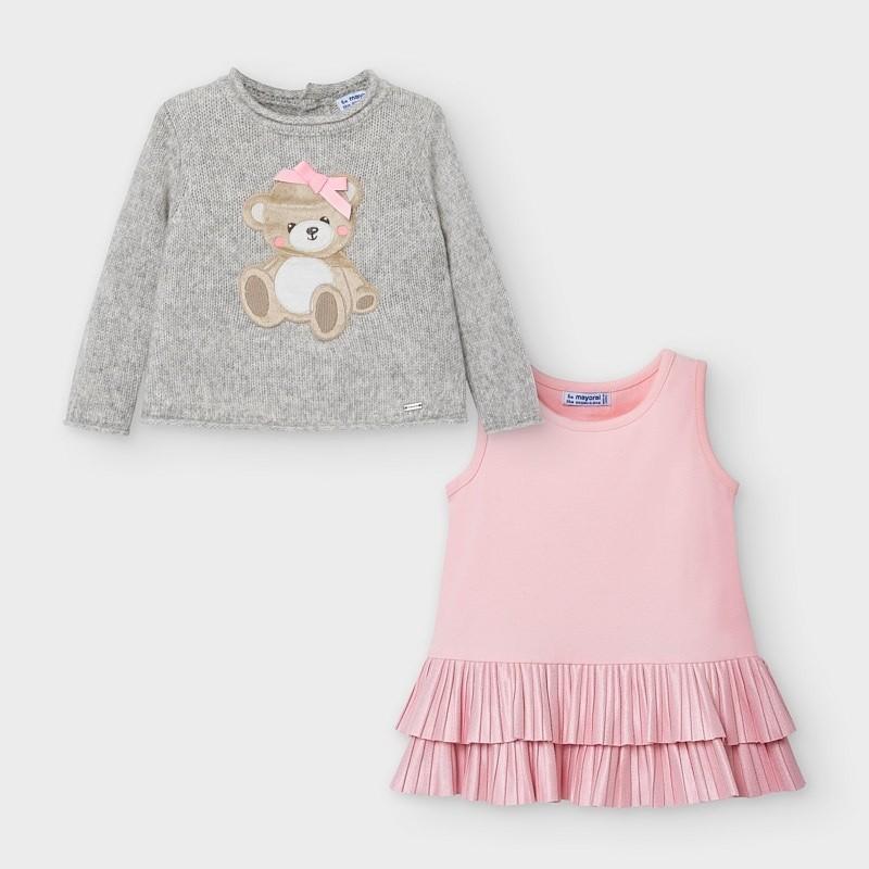 Трикотажна рокля за бебе