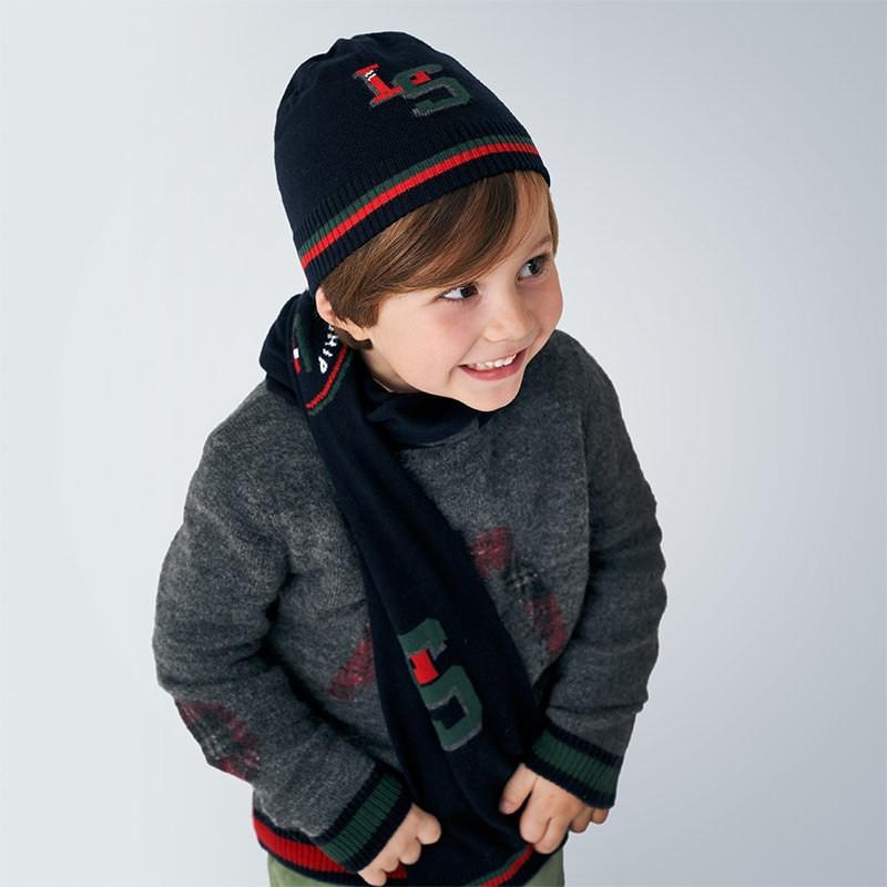 Комплект шапка с шал за момче Mayoral