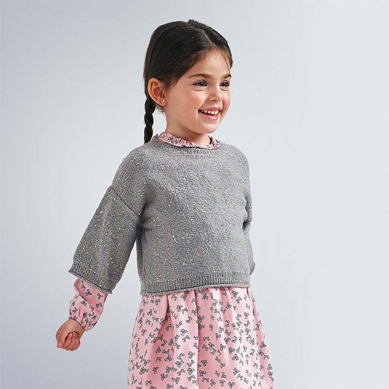 Пуловер  с пайети за момиче...