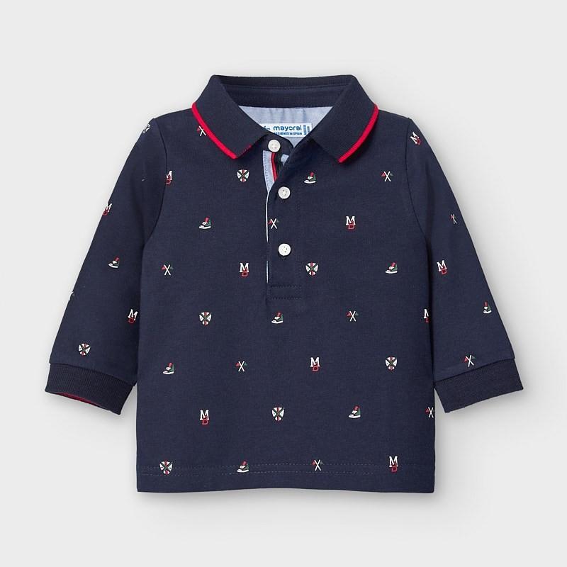 Блуза тип поло за бебе...